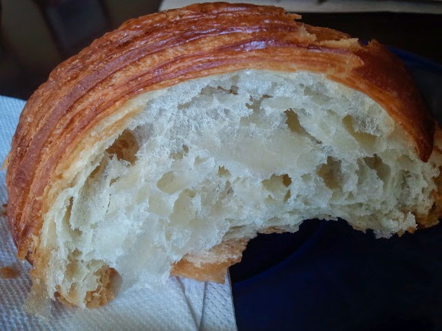 Wagamama croissant - Rich, even layers.