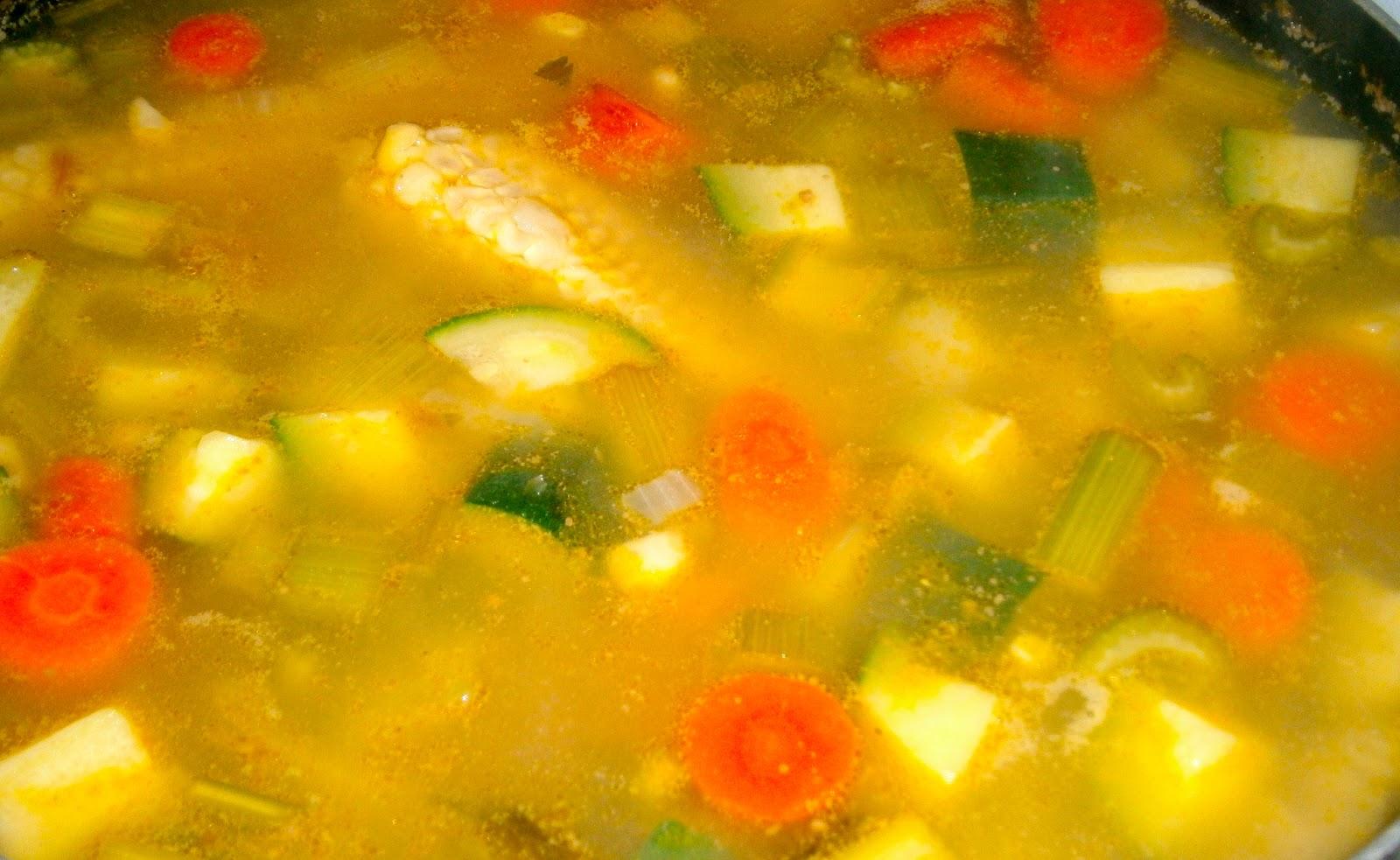 soup, lentil and kale soup, daal soup; Spicy plantain, Summer squash ...