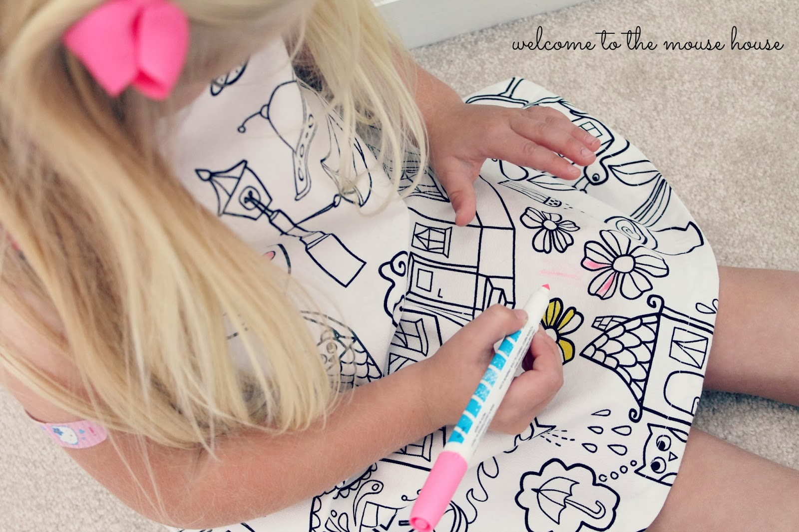 The Coloring Book Dress - welcometothemousehouse.com