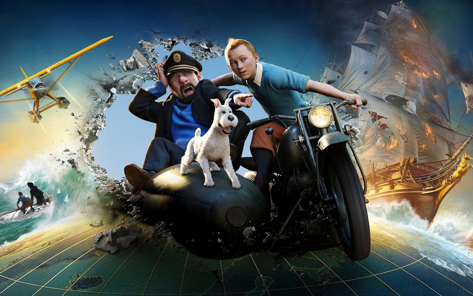 central Wallpaper: The Adventures of Tintin Posters HD Wallpapers