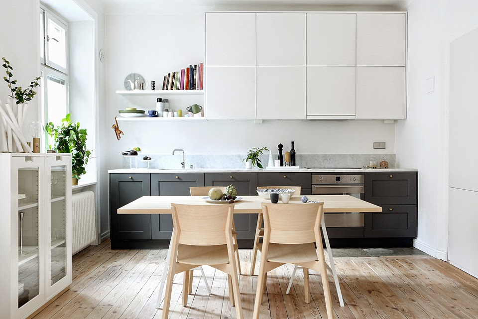 My scandinavian home a stockholm home with a fabulous kitchen - Decoracion nordica salon ...