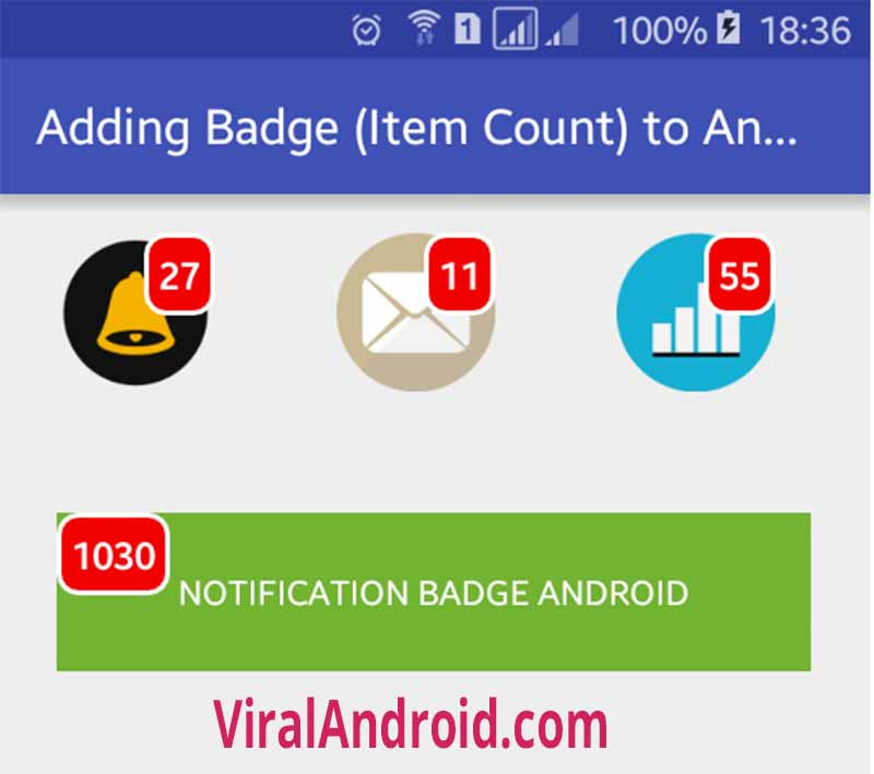Adding Badge (Item Count) to Android Button | Viral