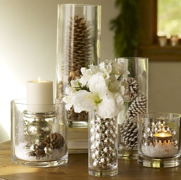 Como Decorar Jarrones Navide?os ~ Floreros de vidrio para centros de mesa ~ lodijoella