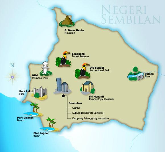 Negeri Sembilan Tourist Map