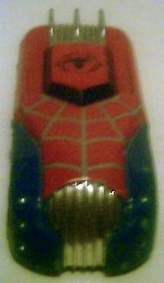 Front view of Spider-Man diecast car 2006