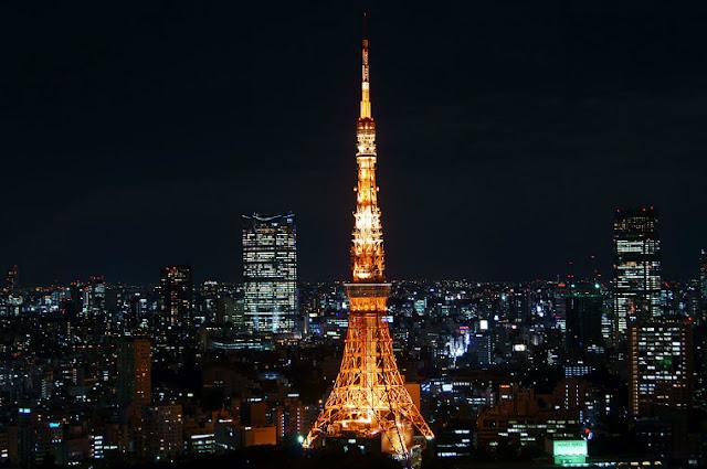 gambar tempat wisata favorit di jepang menara tokyo