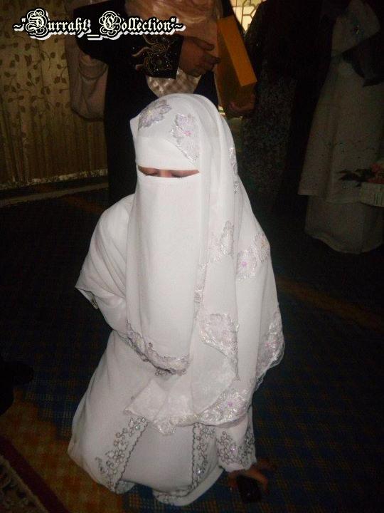Di pakai pada hari akad nikah berlangsung : wedding niqab-