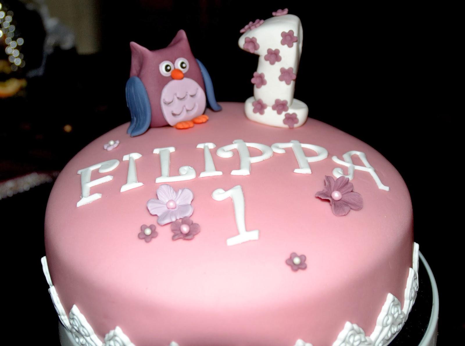 Tårta med uggla