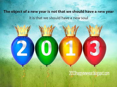 Beautiful Greetings Happy New Year Card 2013