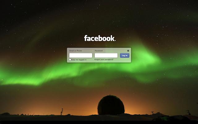 بتغير خلفية تسجيل الدخول الفيسبوك