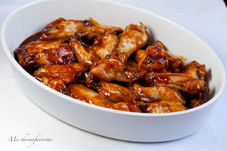 Alitas de pollo con salsa de soja, miel y limón en Thermomix®