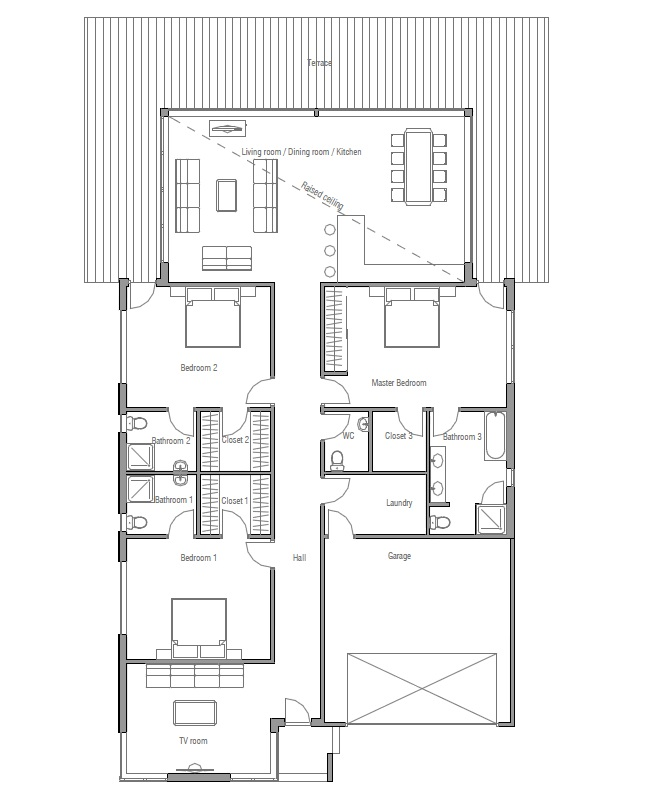 Australian house plans modern house plan ch147 for House floor plans australia