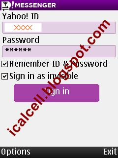 Sign In - Yahoo Messenger 1.5.0 For Mobile (nokia)