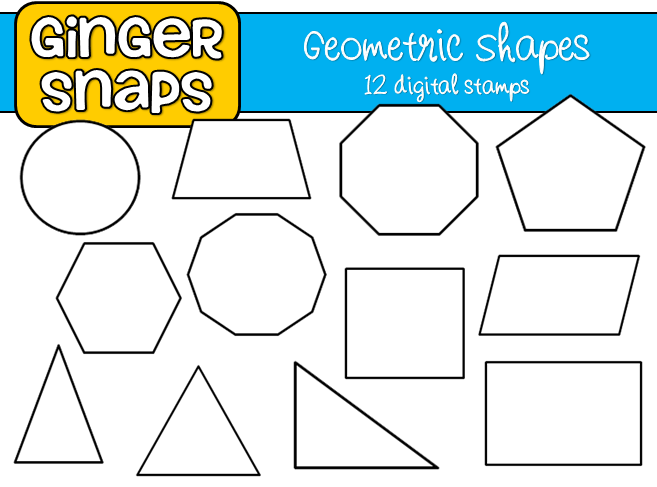Line Art Shapes : Ginger snaps geometric shapes and lines art