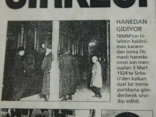 Hilâfetin ilgâ Hanedan-ı Osmanî'nin Türkiye Cumhuriyeti memaliki haricine çıkarılmasına dair kanun