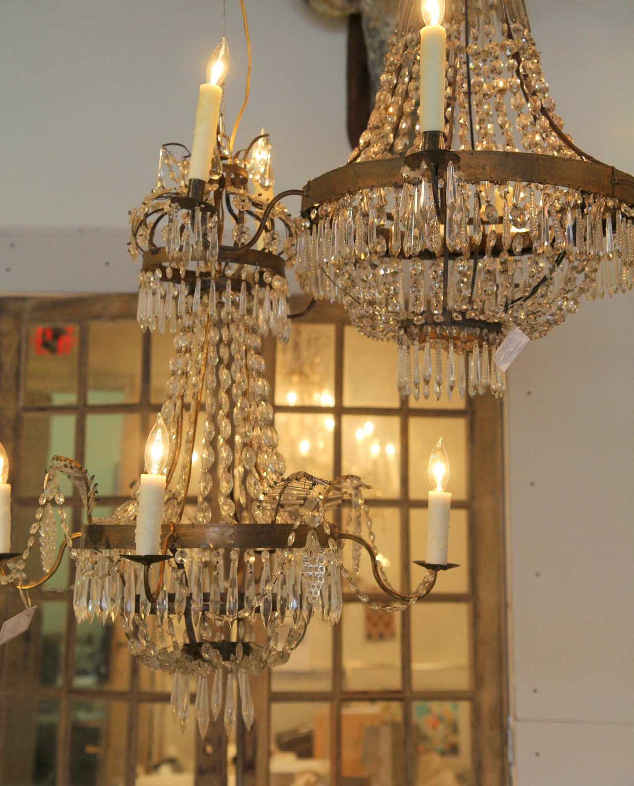 Spear crystal chandeliers; Inspirational Chandeliers and Sconces; Nora's Nest