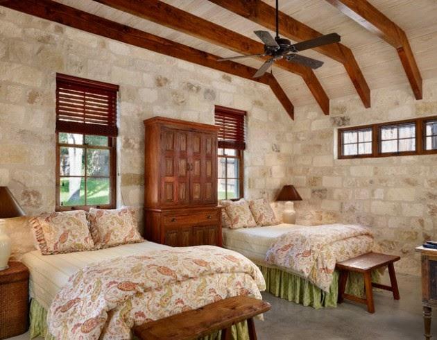 Hogares frescos 19 dormitorios elegantes ideas con muro for Dormitorio granate
