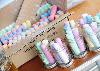 chalk for mason jar labels