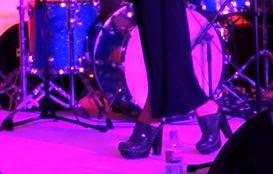 Pixie Geldof Studded Clog Heels
