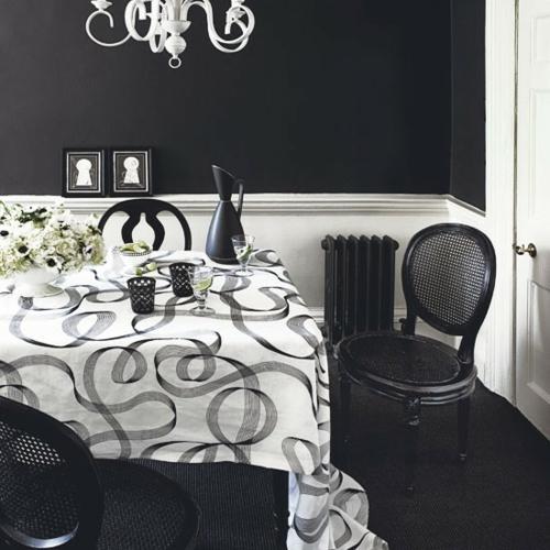 Ideas para decorar dise ar y mejorar tu casa comedores for Comedor blanco y negro