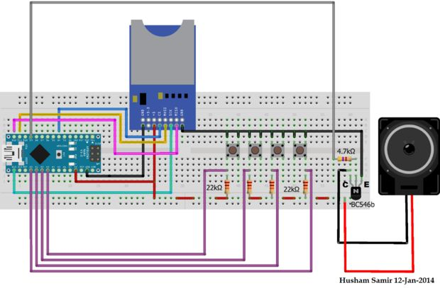 Arduino 7 segment indicator 3 sections