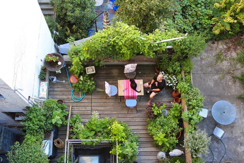 66 square feet plus moving a garden for Open terrace garden designs