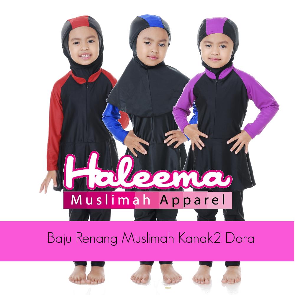 Baju Renang Muslimah Kanak2 Dora