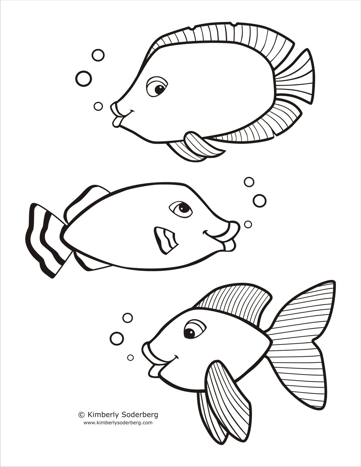 Fish template to color viewing gallery