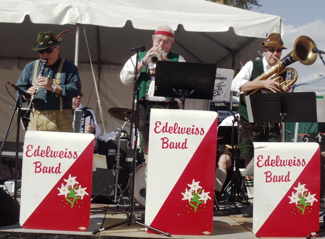 Edelweiss Band playing at Haymarket's Oktoberfest in 2012