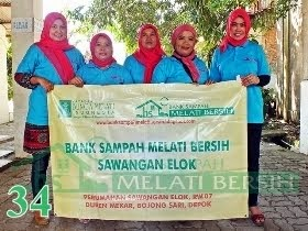 Bank Sampah Melati Bersih Sawangan Elok Duren Mekar Bojongsari Depok