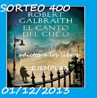 http://megustaloslibros.blogspot.com.es/2013/11/sorteo-400-seguidores.html