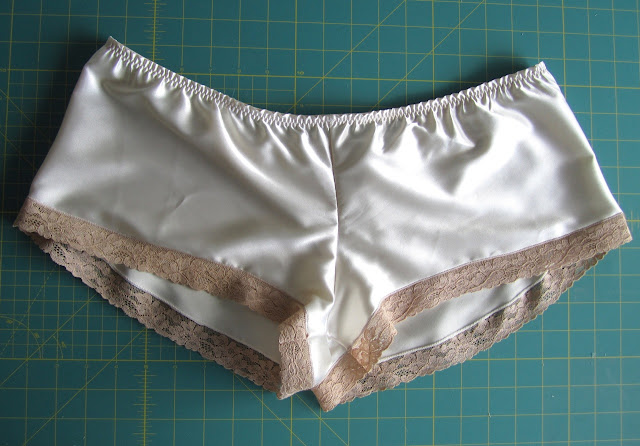 French knickers underwear with vintage lace edging.