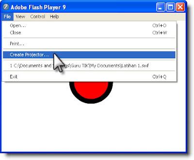 Menciptakan File Projector