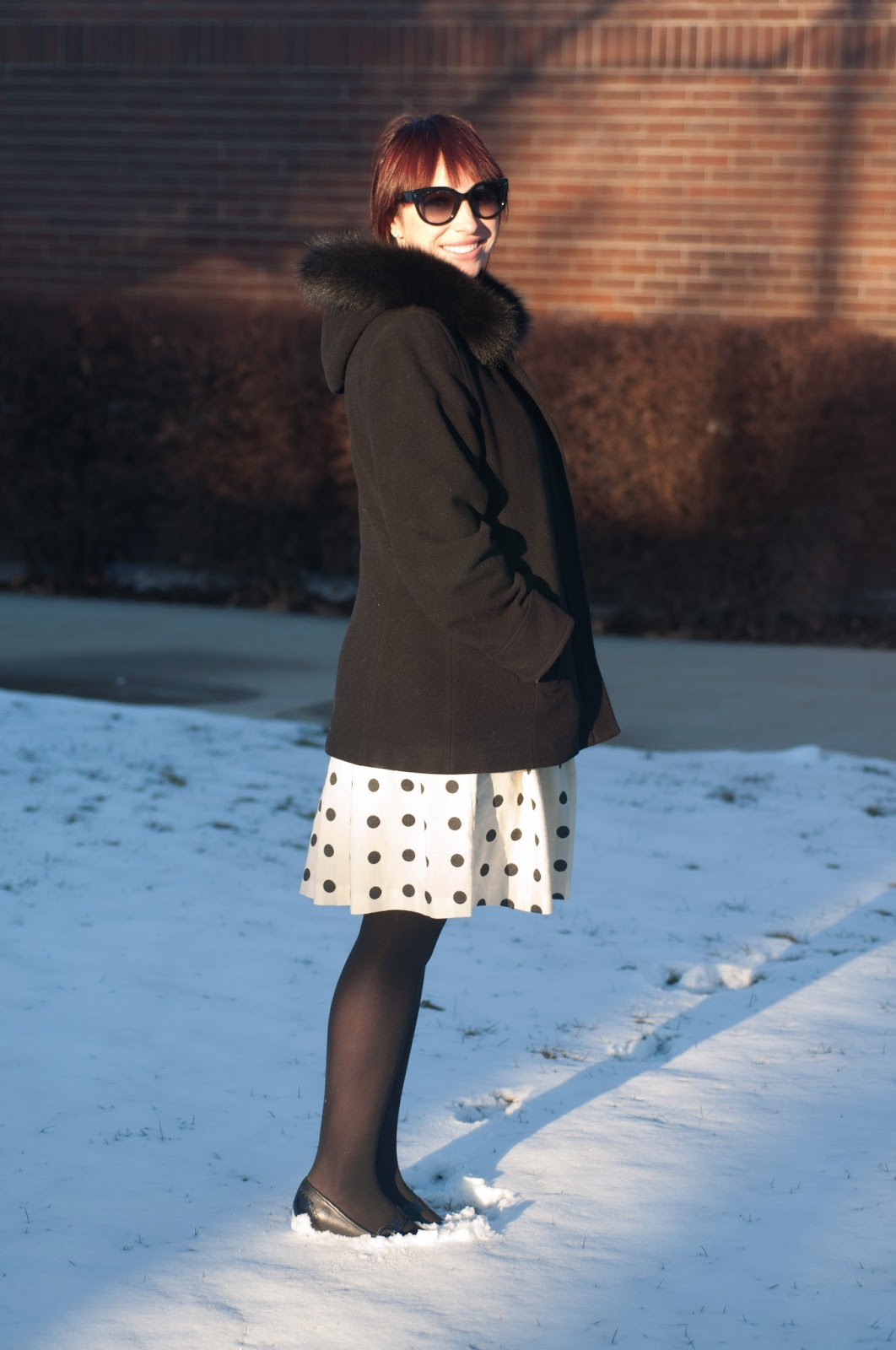 fashion blog, fashion blogger, style blog, style blogger, mens fashion, mens fashion blog, mens style, mens style blog, womens style blog, anthropologie ootd blog, anthropologie ootd, anthropologie, ootd, mens ootd, womens ootd, court, jcrew, fur coat, polka dot dress,