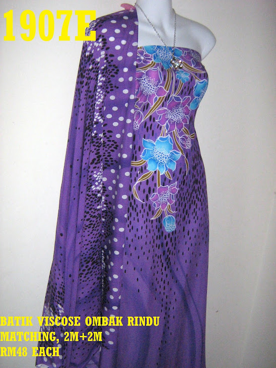 BVM 1907E: BATIK VISCOSE OMBAK RINDU MATCHING, EXCLUSIVE DESIGN, 2M+2M