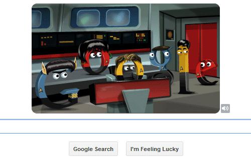 Star Trek Google Doodle First View