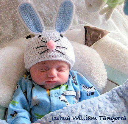 Вязание на спицах шапочки зайчик для новорожденного