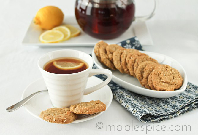 Vegan Lemon Sesame Snaps.