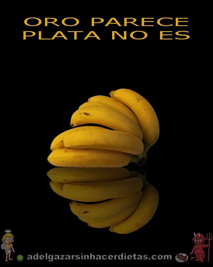 El plátano para adelgazar propiedades