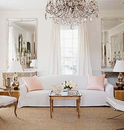 pink glam living room decor Eye For Design: Decorate With Soft Blush Tones