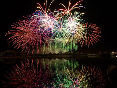 large fireworks finale