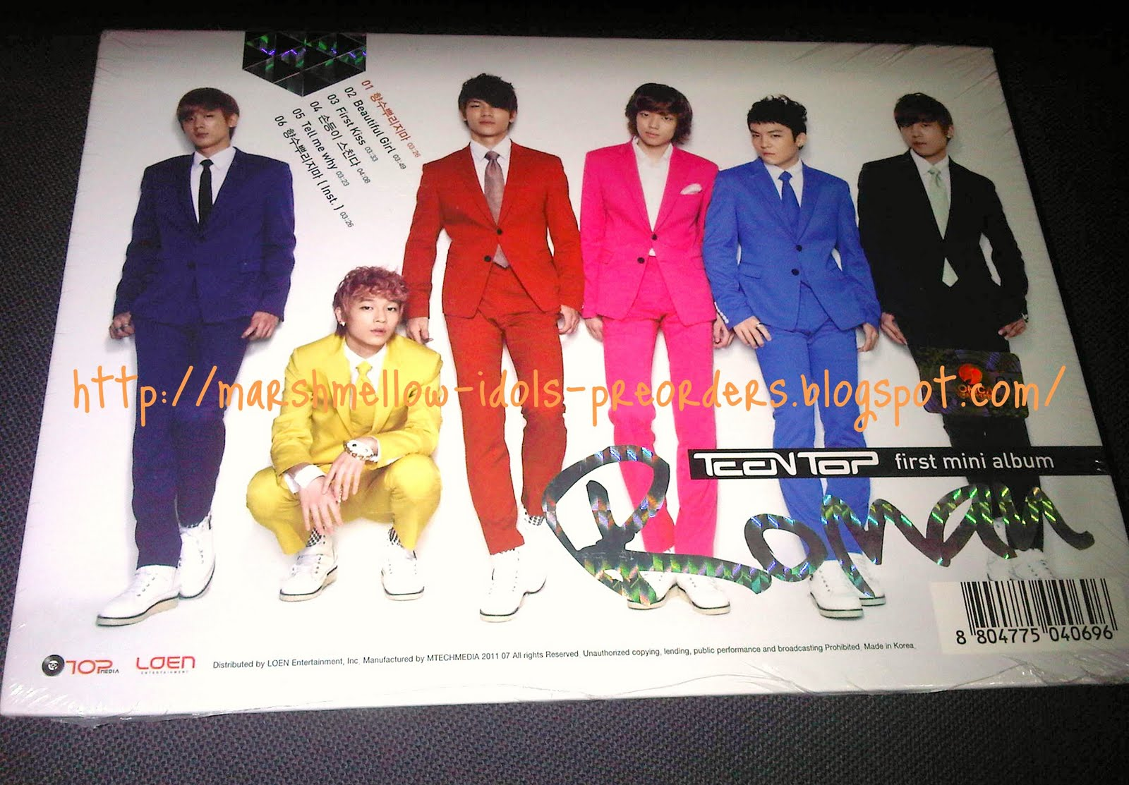 We have others Teen Top albums/merchandise too. Feel free to email us :D