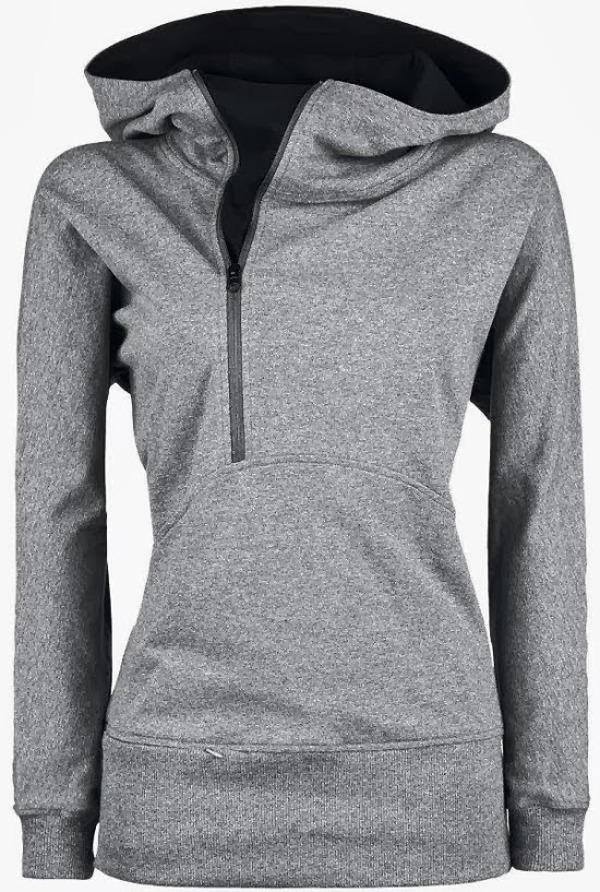 Adorable Grey Hoodie with Inside Black Side Zipper for Fall & Winter