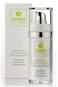 Medizinischer EGF Hautbalsam mit Colostrum nach Dr. Edgar Raschenberger von Solubia Vital