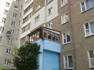 Ремонт, дизайн, строительство: лоджиЯ на козырьке подъезда (.