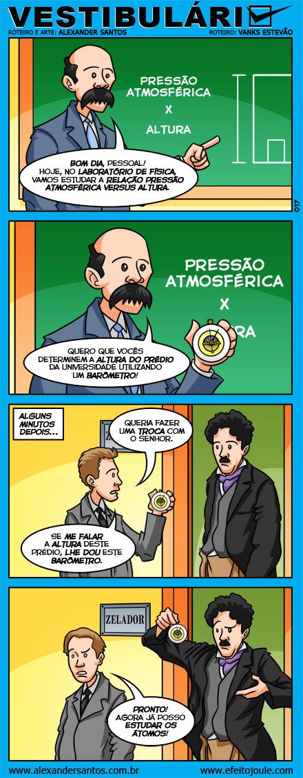 Tirinha: Niels Bohr e o barômetro