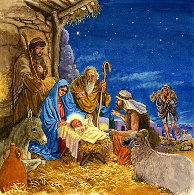 Representación del Nacimiento de Jesús en el Pesebre