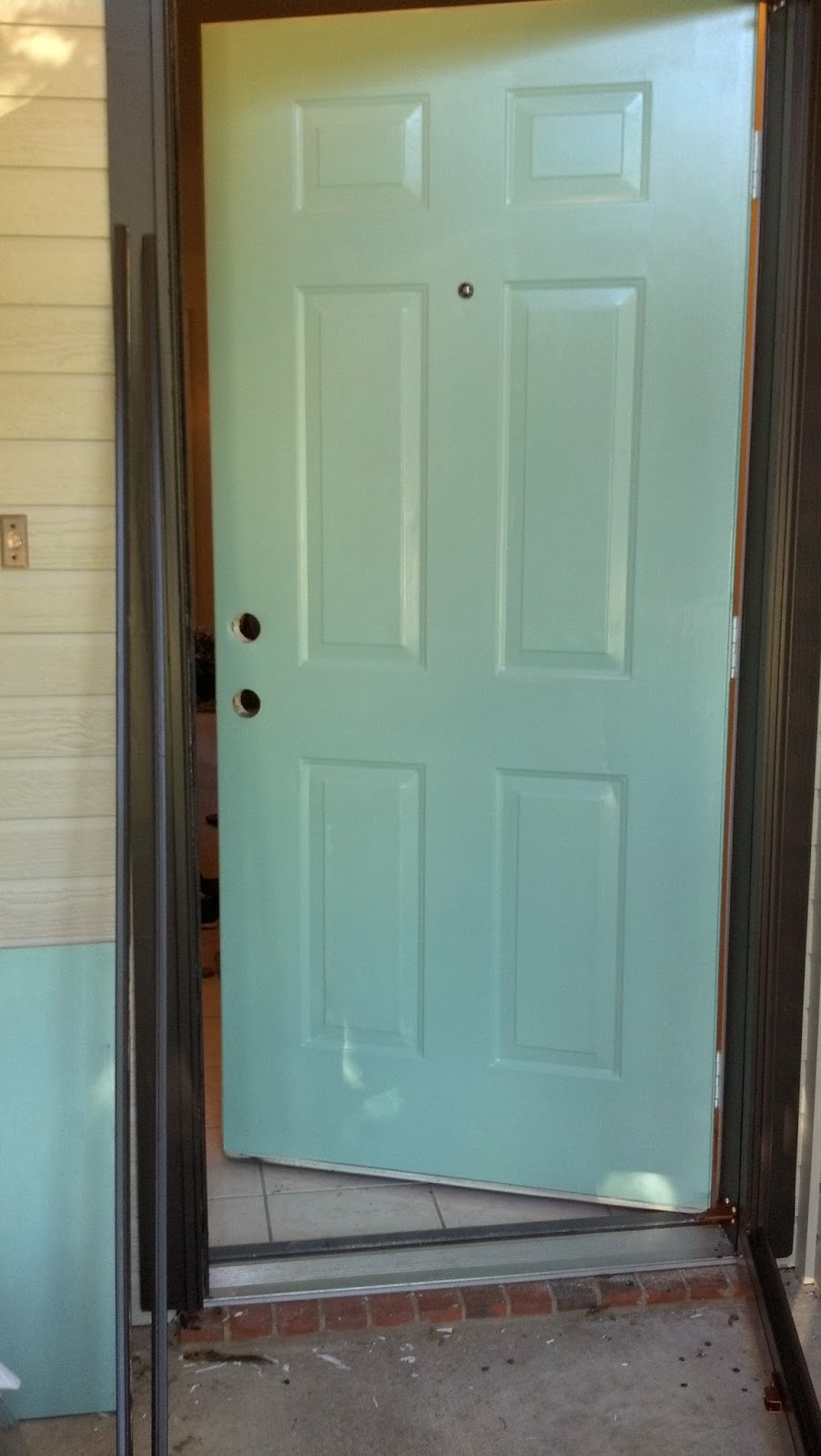 how to paint your front doorFix Lovely How to paint your front door storm door and hardware