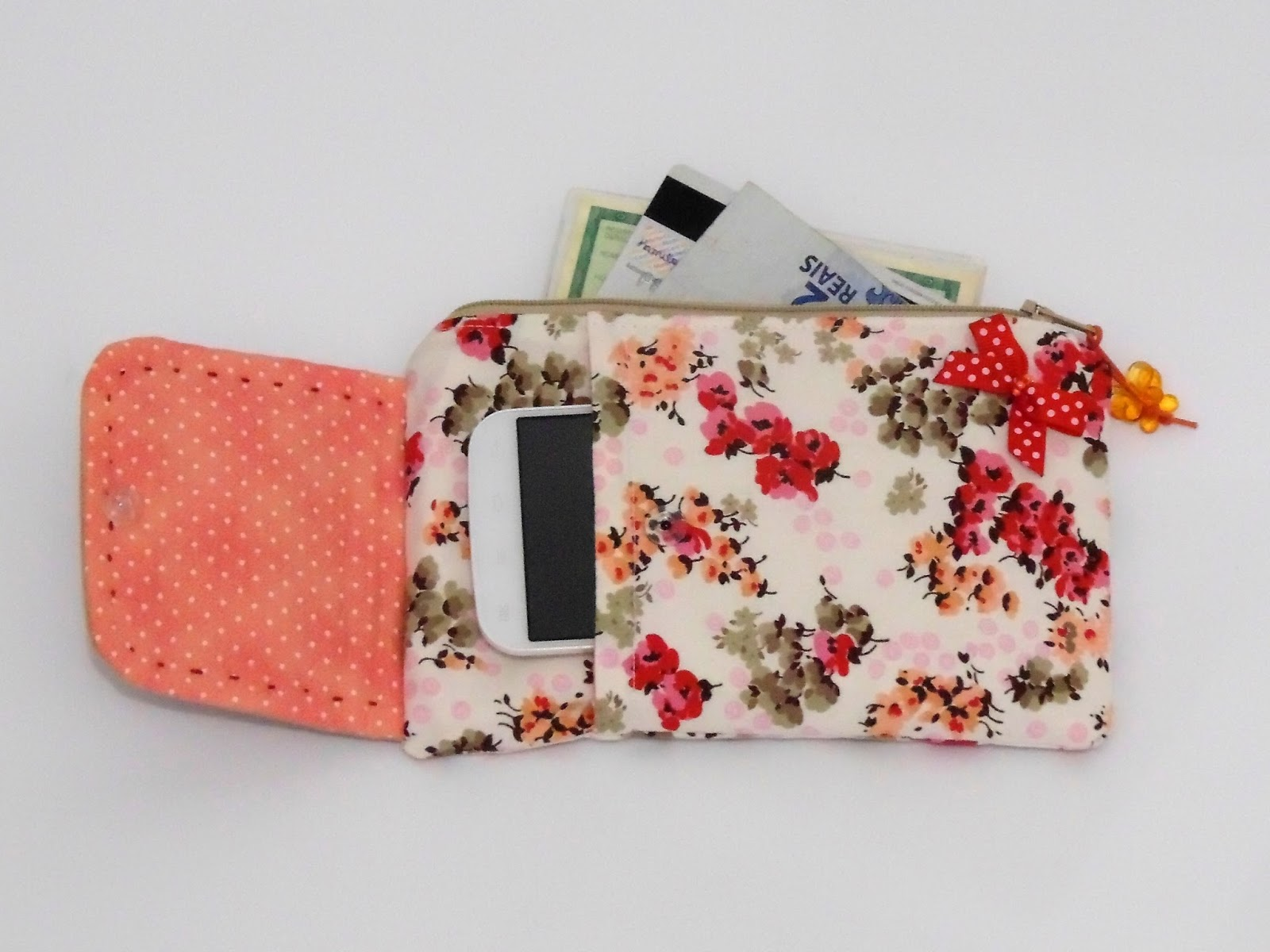Bolsa Para Carregar Celular No Braço : Artesanato candido artes carteira com porta celular e