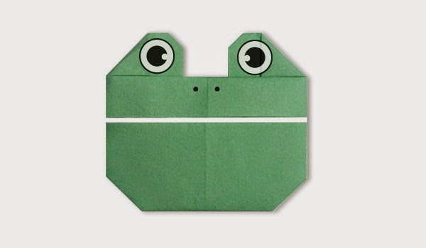Origami Tutorials - How to make a paper Frog's face